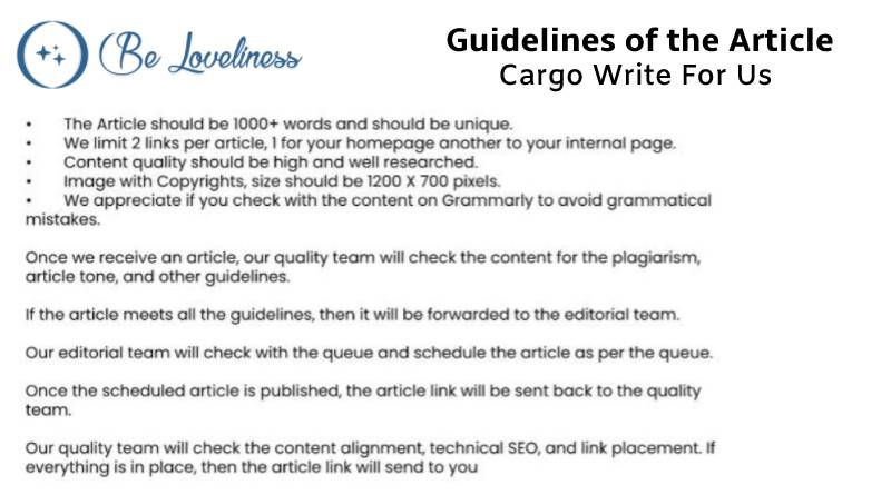 Guidelines Carge write for us