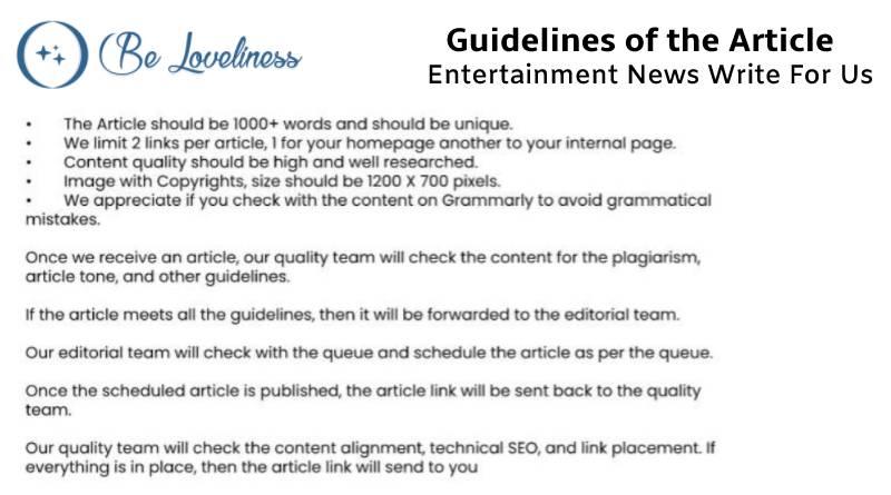 Guidelines Entertainment news write foo us