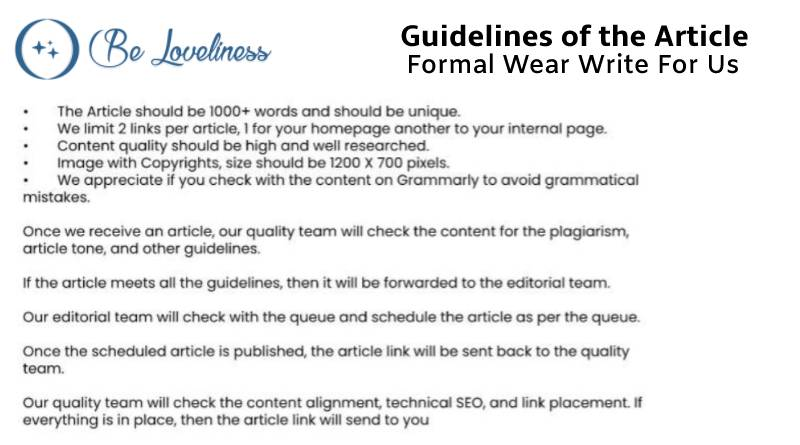 Guidelines Formal wear write for us