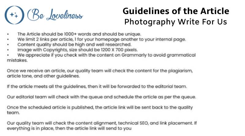 Guidelines Photography write for us