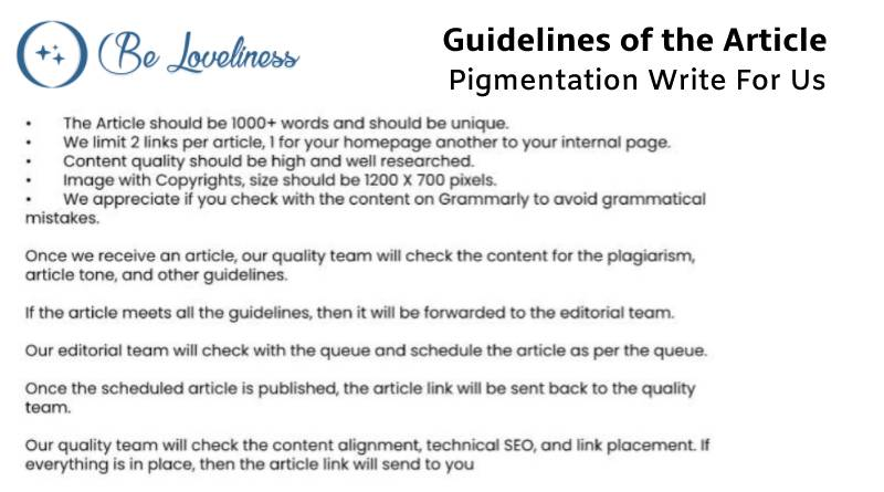 Guidelines Pigmentation write for us