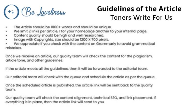 Guidelines Toners write for us