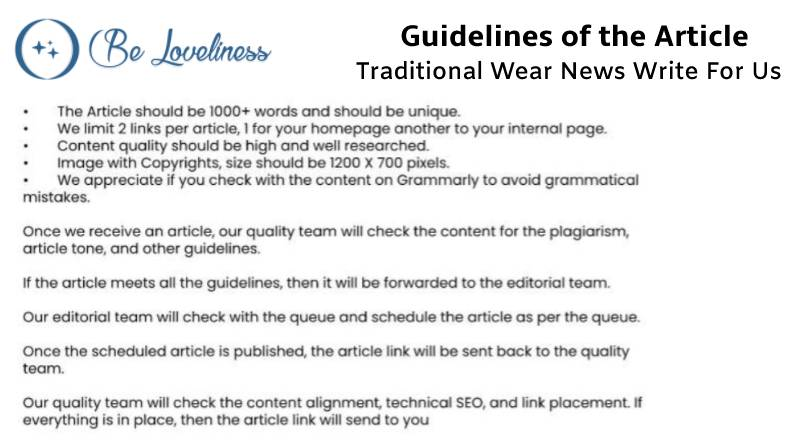 Guidelines Traditional write for us