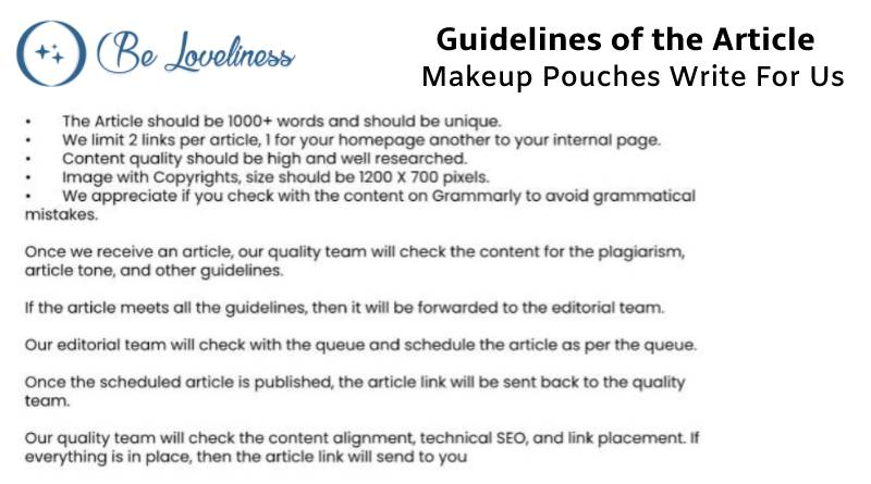 Guidelines make up pouches write for us