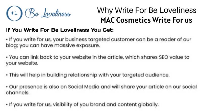 Why write for MAC Cosmetics Write For Us