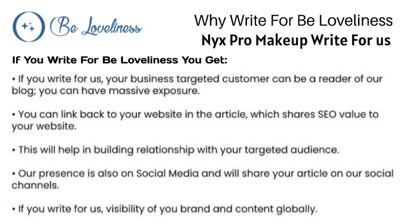 Why write for Nyx Pro Makeup WRITE FOR US