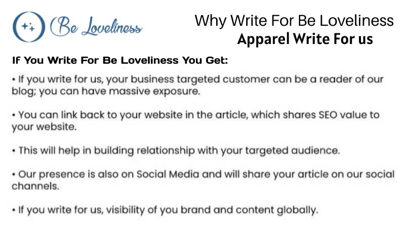 why write for Appareal write for us