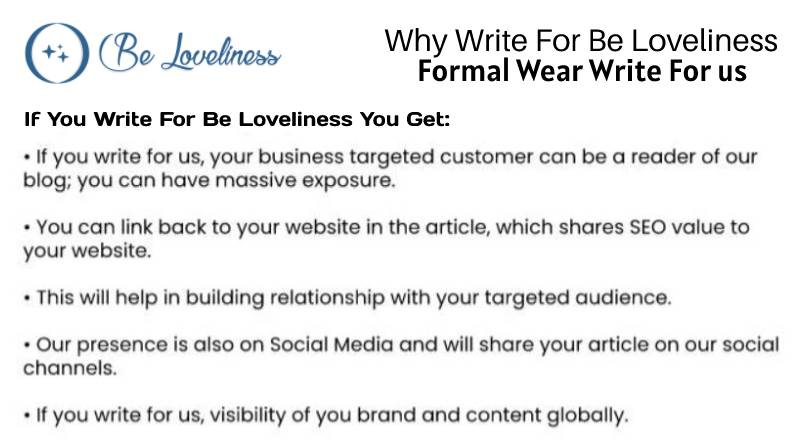why write for Formal wear write for us