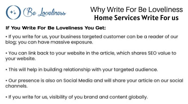 why write for Home services write for us