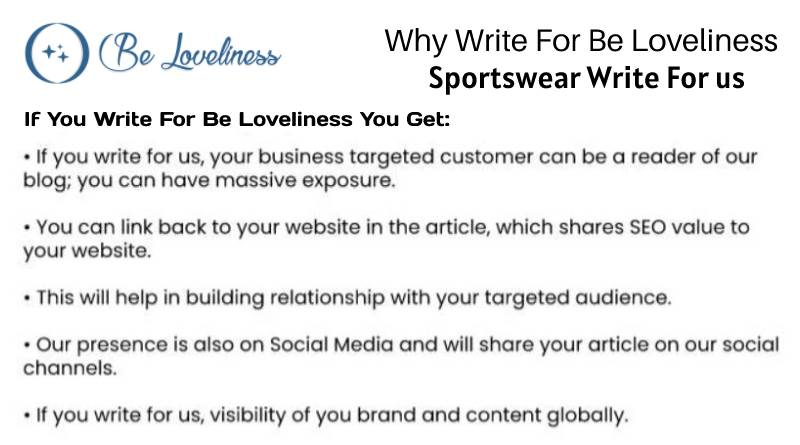 why write for Sportswear write for us