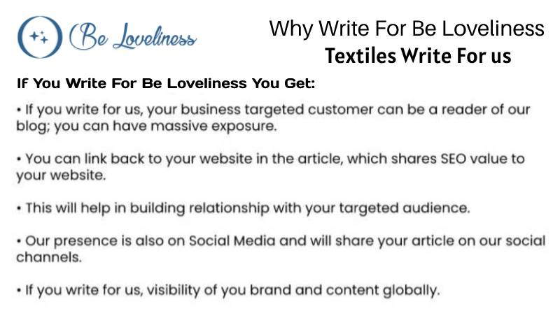 why write for Textiles write for us