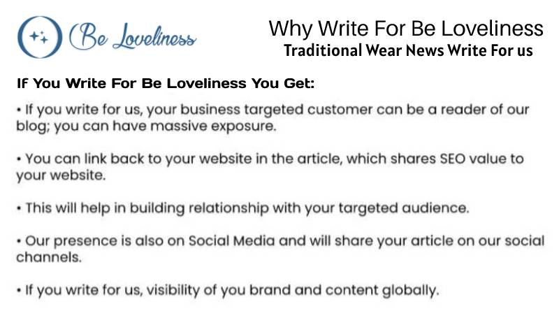 why write for Traditinal wear write for us