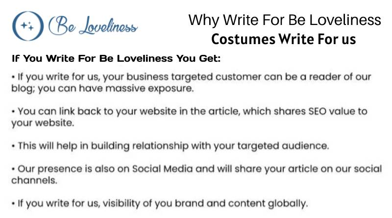 why write for costumes write for us