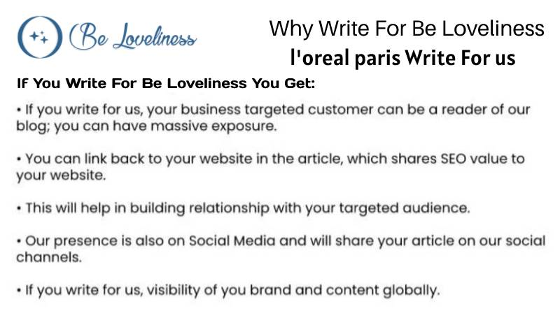 why write for us L'Oreal write for us