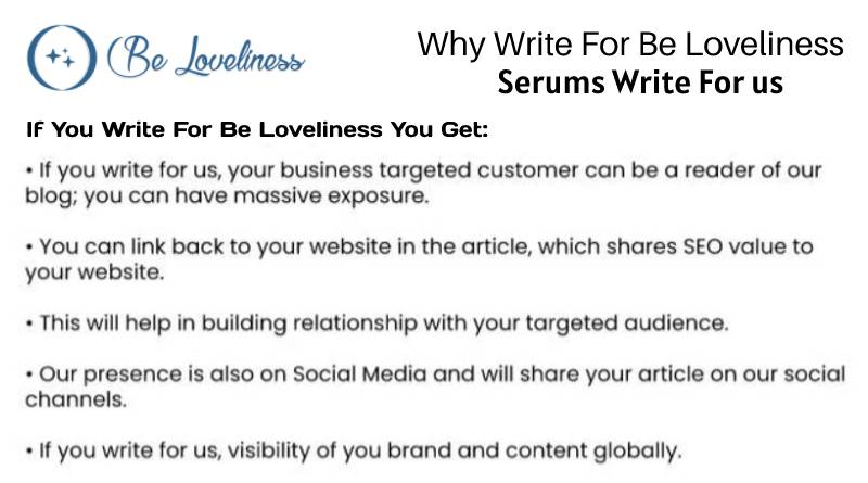 why write for us Serums write for us