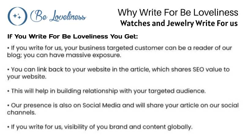 why write for us watch and jewelary write for us